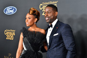 (L-R) Ryan Michelle Bathé and Sterling K. Brown attend the 51st NAACP Image Awards, Presented by BET, at Pasadena Civic Auditorium on February 22, 2020 in Pasadena, California.