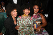 Yara Shahidi (C), Lizzo (R), and guest attend the 51st NAACP Image Awards, Presented by BET, at Pasadena Civic Auditorium on February 22, 2020 in Pasadena, California.