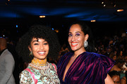 (L-R) Yara Shahidi and Tracee Ellis Ross attend the 51st NAACP Image Awards, Presented by BET, at Pasadena Civic Auditorium on February 22, 2020 in Pasadena, California.