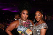 (L-R) Lizzo and Tiffany Haddish attend the 51st NAACP Image Awards, Presented by BET, at Pasadena Civic Auditorium on February 22, 2020 in Pasadena, California.