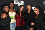 (L-R) Sandra Lambeck, Leomie Anderson, Connie Orlando, Jasmine Luv, and Jasmin Brown attend BET's Social Awards 2018 - It Girls Welcome Dinner on February 10, 2018 in Atlanta, Georgia.