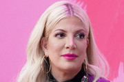 Tori Spelling participates in the Beverly Hills 90210 Costume Exhibit Event at The Atrium at Westfield Century City on August 19, 2019 in Los Angeles, California.