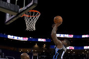 Paul McPherson #6 of Power shoots the ball against Chauncey Billups #1 of Killer 3s during week two of the BIG3 three on three basketball league at Spectrum Center on July 2, 2017 in Charlotte, North Carolina.