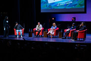 (L-R) Modertor Catherine Brewton with Rodney Jerkins, RedOne, Faith Evans, Tory Lanez and Mark Batson discuss the creative process during BMI's How I Wrote That Song 2018 on January 27, 2018 in New York City.