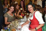 (L-R) Sophie Wepper, Alexandra Kamp and Lara Joy Koerner attend the BMW Armbrustschiessen at Armbrust-Schuetzenfesthalle during the Oktoberfest 2015 at Theresienwiese on September 21, 2015 in Munich, Germany.