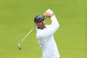 Alvaro Quiros of Spain plays his second shot on the 4th hole during day one of the BMW PGA Championship at Wentworth on May 24, 2018 in Virginia Water, England.