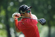 Jin Jeong of Korea tees off on the 3rd hole during day one of the BMW PGA Championship at Wentworth on May 26, 2016 in Virginia Water, England.