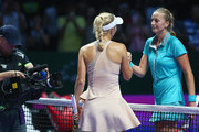 Caroline Wozniacki and Petra Kvitova Photos - 1 of 52 Photo