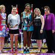 Stacey Allaster and Serena Williams