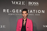 Jon Kortajarena arrives for the BOSS & VOGUE Italia Event at Hotel Viu Milan on February 21, 2020 in Milan, Italy.