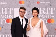 Matthew Morrison and Renee Puente attend The BRIT Awards 2019 held at The O2 Arena on February 20, 2019 in London, England.