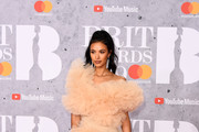 Maya Jama attends The BRIT Awards 2019 held at The O2 Arena on February 20, 2019 in London, England.