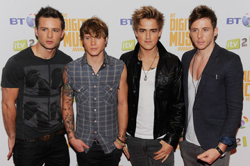 Dougie Poynter BT Digital Music Awards - Press Boards
