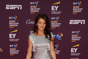 Annabel Croft poses on the red carpet during the BT Sport Industry Awards 2017 at Battersea Evolution on April 27, 2017 in London, England. The BT Sport Industry Awards is the most prestigious commercial sports awards ceremony in Europe, where over 1,750 of the industry's key decision-makers mix with high profile sporting celebrities for the industry's most anticipated night of the sport business calendar.