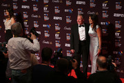 Rob Curling and Annabel Croft pose on the red carpet during the BT Sport Industry Awards 2017 at Battersea Evolution on April 27, 2017 in London, England. The BT Sport Industry Awards is the most prestigious commercial sports awards ceremony in Europe, where over 1,750 of the industry's key decision-makers mix with high profile sporting celebrities for the industry's most anticipated night of the sport business calendar.