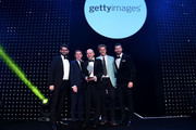 James Cracknell and Sir AP McCoy present the Young Agency of the Year in association with Getty Images to MATTA during the BT Sport Industry Awards 2019 at Battersea Evolution on April 25, 2019 in London, England. The BT Sport Industry Awards is the biggest commercial sports awards in the world and an annual showcase of the best of the sector's creative and commercial output. The event brings together sports stars, celebrities, industry leaders, influencers and media from around the world for what is always a highly anticipated occasion.