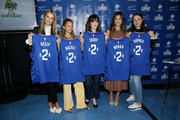(L-R) Kelly Sawyer Patricof, Nicole Richie, Zooey Deschanel, Norah Weinstein, and Sophia Rossi celebrate donation of One Million backpacks from Baby2Baby, Kawhi Leonard and the L.A. Clippers to students across Los Angeles at 107th Street Elementary on August 20, 2019 in Los Angeles, California.