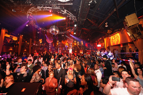 A general view during the Bacardi VIP Room For The Black Eyed Peas After Party at M2 Ultra Lounge on February 24, 2010 in New York, New York.