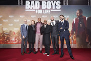 "(L-R) Doug Belgrad, Jerry Bruckheimer, Will Smith, Martin Lawrence, Bilall Fallah and Adil El Arbi attend the Berlin premiere of ""Bad Boys For Life"" at Zoo Palast on January 07, 2020 in Berlin, Germany."