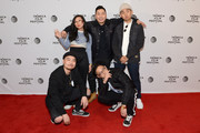 "(L-R) Dumbfoundead, Awkwafina, Lyricks,  Rekstizzy, and Jaeki Cho attend the ""Bad Rap"" Premiere during the 2016 Tribeca Film Festival at Chelsea Bow Tie Cinemas on April 16, 2016 in New York City."