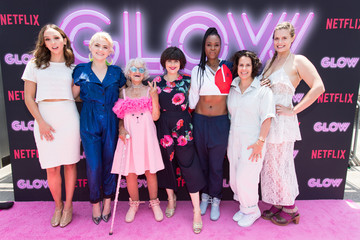 Baddie Winkle Cast Of Netflix's 'Glow' Celebrates Premiere Of Season 2 With '80s Takeover On Muscle Beach