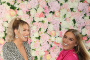 (L-R) Barbie Blank and Stephanie Princi arrive at Baes And Bikinis Los Angeles Launch Party at Catch LA on November 19, 2019 in West Hollywood, California.