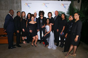 Bahamas Minister of Tourism Dionisio D?Aguilar, Lenny Kravitz,  Joy Jibrilu and Deputy Director General Tommy Thompson arrive at The Bahamas x Lenny Kravitz Fly Away Campaign Launch on February 7, 2019 in New York City.
