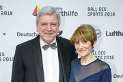 German State Premier for the state of Hesse, Volker Bouffier and his wife Ursula attend the German Sports Gala 2018 'Ball Des Sports' on February 3, 2018 in Wiesbaden, Germany.