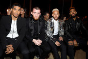 Rome Flynn, guest, Neymar and Eric Choupo-Moting attends the Balmain Menswear Fall/Winter 2020-2021 show as part of Paris Fashion Week on January 17, 2020 in Paris, France.