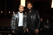(L-R) Neymar and Eric Choupo-Moting attend the Balmain Menswear Fall/Winter 2020-2021 show as part of Paris Fashion Week on January 17, 2020 in Paris, France.