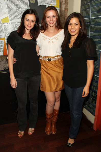 ***EXCLUSIVE ACCESS*** (L-R) Actors Alexis Bledel, America Ferrera and Amber Tamblyn attend the