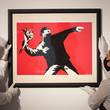 Banksy Preparations Take Place At Christie's Ahead Of Online Sales - Photocall