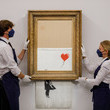 Banksy Sotheby's Announces Banksy's Love Is In The Bin For The Contemporary Art Evening Auction On October 14
