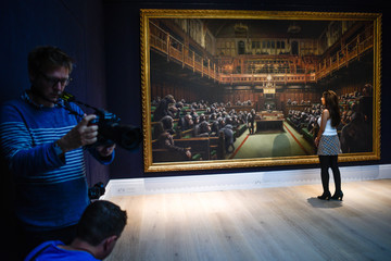 Banksy Banksy's Dystopian View of The House of Commons Up For Auction