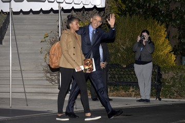 Barack Obama First Family Departs White House for Hawaii Holiday Vacation