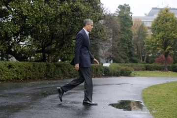 Barack Obama Obama Departs the White House For Climate Change Summit in Paris