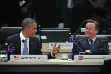 Barack Obama David Cameron World Leaders Participate in Policy Discussion at Nuclear Security Summit
