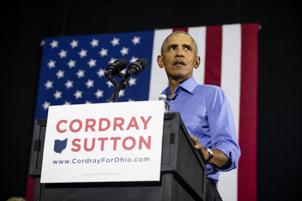 Former President Obama Attends Rally In Cleveland For Ohio Gubernatorial Candidate Richard Cordray