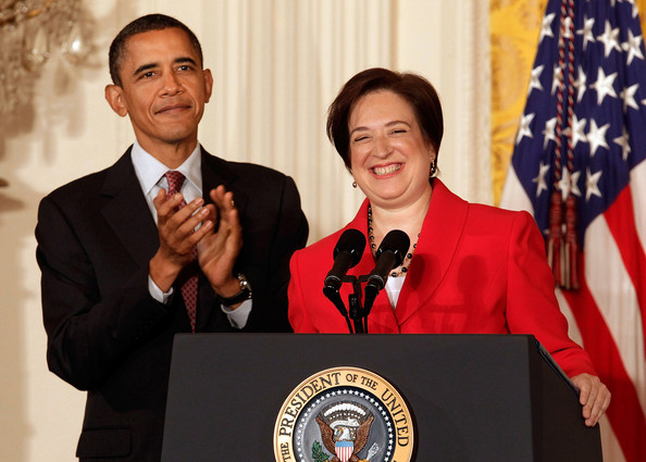 Barack Obama U.S. President Barack Obama (L) and former U.S. Solicitor General and Supreme Court designated Associate Justice Elena Kagan participate in a reception in honor of Kagan's confirmation in the East Room of the White House on August 6, 2010 in Washington, DC. The senate voted 63-37 to approve Kagan, who will be 112th justice and fourth female justice ever to be appointed to the court.