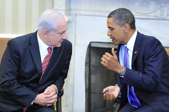 Barack Obama U.S. President Barack Obama (R) meets Israeli Prime Minister Benjamin Netanyahu in the Oval Office of the White House September 1, 2010 in Washington, D.C. Obama will meet with Middle East leaders before the opening direct talks between Israel and the Palestinians scheduled to begin September 2, in the State Department.