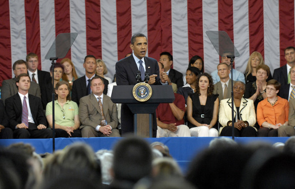 President Obama Holds Town Hall On Health Care In Raleigh, North Carolina