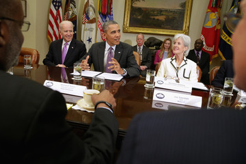 Barack Obama Barack Obama Meets with Insurance Executives