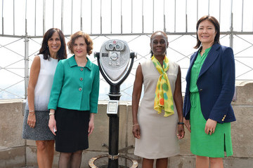 Barbara Ricci New York First Lady Chirlane McCray Visits the Empire State Building To Raise Awareness For Mental Health