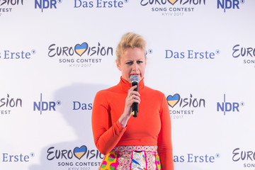 Barbara Schoeneberger 'Eurovision Song Contest 2017 - Unser Song' Press Conference And Rehearsal