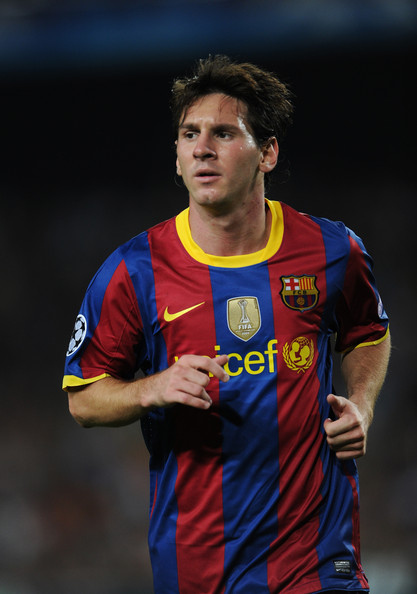 barcelona fc messi 2010. Lionel Messi of Barcelona