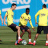 Ansu Fati Photos - Sergio Busquets and Ansu Fati of FC Barcelona compete for the ball during a training session at Ciutat Esportiva Joan Gamper on May 19, 2020 in Barcelona, Spain. Spanish LaLiga clubs are back training in groups of up to 10 players following the LaLiga's 'Return to Training' protocols. - Barcelona Players Return To Training Following Coronavirus Lockdown