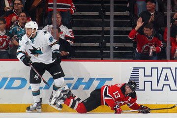Barclay Goodrow San Jose Sharks v New Jersey Devils