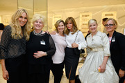 (L-R) Actor/host Alana Stewart, Mary Willard, actors Hope Mulbarger and Jaclyn Smith, and Farrah Fawcett Foundation angels attend Barneys New York Celebration of the Farrah Fawcett Foundation at Barneys New York Beverly Hills on May 11, 2017 in Beverly Hills, California.