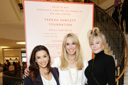 (L-R) Eva Longoria, Alana Stewart and Melanie Griffith attend Barneys New York Hosts A Cocktail Party In Support Of The Farrah Fawcett Foundation at Barneys New York Beverly Hills on April 11, 2019 in Beverly Hills, California.