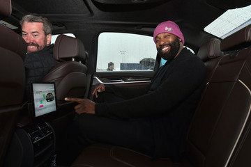 Baron Davis Celebrities Ride Into The Future With Lyft and Aptiv Self Driving Cars At CES In Las Vegas
